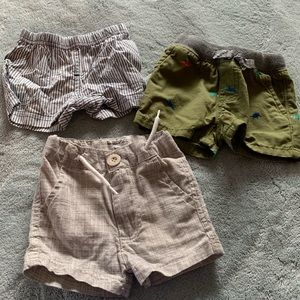 3 pack baby boy shorts